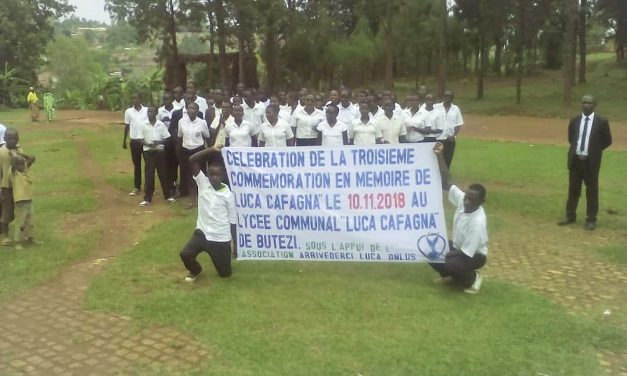 Luca Cafagna, terza commemorazione presso il liceo di Butezi