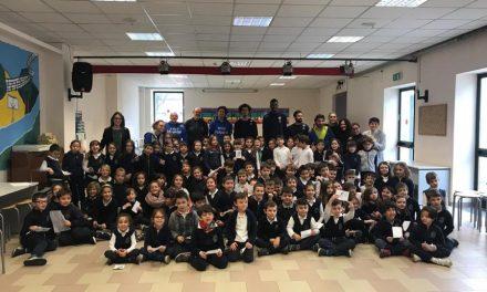 Fiat Auxilium Torino e Basket Venaria in 'tour' alla Barolo: Portannese, Okeke e Trucco sfidano i bimbi (FOTO e VIDEO)