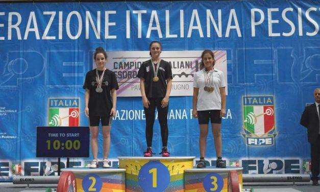 A Pavia i Campionati italiani di pesistica U15, quarto posto per Venaria: Bentivegna vice campionessa (FOTO)