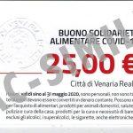 VENARIA – 1.203 DOMANDE PER BENEFICIARE DEI BUONI SPESA